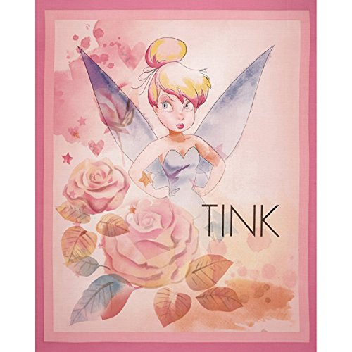 (Disney Tinkerbell All the Stars in the Sky Panel-36'' Lavender Fabric By The Yard)