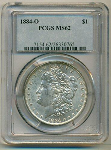 1884 O Morgan Dollar MS62 PCGS