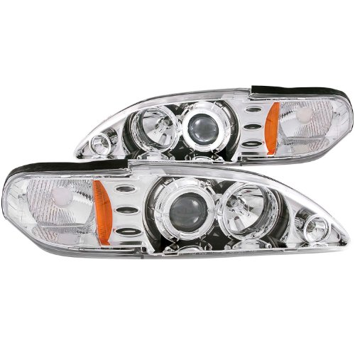 Anzo USA 121039 Ford Mustang Projector 1Pc with LED Halo Chrome Headlight Assembly - (Sold in Pairs)