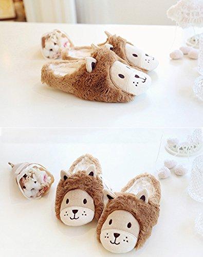 Marron Ours Femmes Mignon Peluche dérapant House Chaussons Hiver Pantoufles Anti F Chaud Slippers Shoes nRxwqwBp