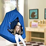 HugglePod HangOut with LED Lights,Fits multiple kids for maximum fun; 250 lbs. max. weight limit (blue)