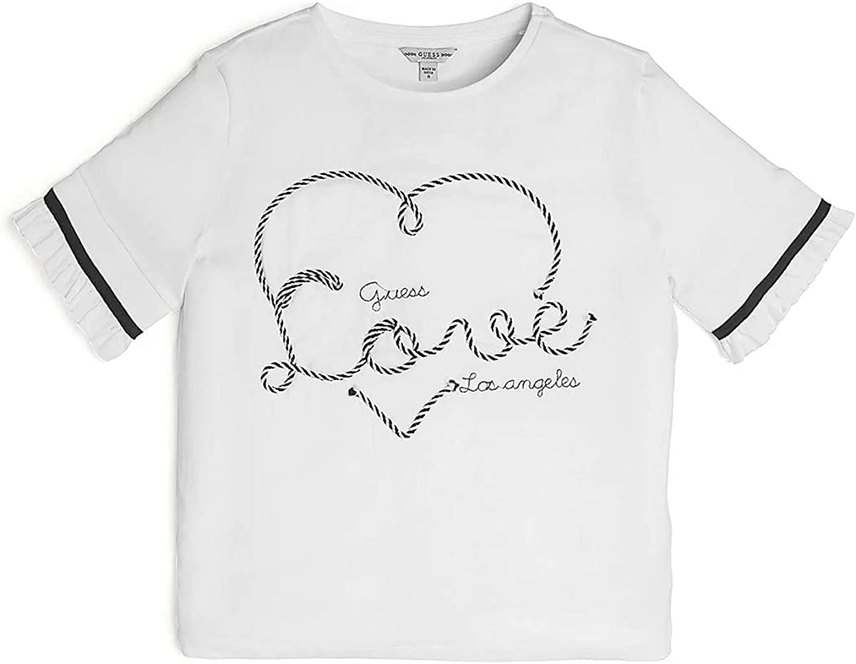 GUESS Junior T-Shirt SS T-Shirt MC Girl White J02I18//K5M20