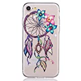 iPhone 8 Case, iPhone 7 Case, 3Cworld Ultra Thin Clear Art Pattern Crystal Gel TPU Rubber Flexible Slim Skin Soft Case for iPhone 7 / iPhone 8 (Dream Catcher Flower-Colorful)