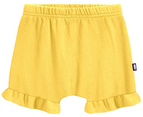 City Threads Baby Girls' and Boys' Ruffled Diaper Covers Bloomers Soft Cotton Fashionable Cute, Yellow, 3-6Months