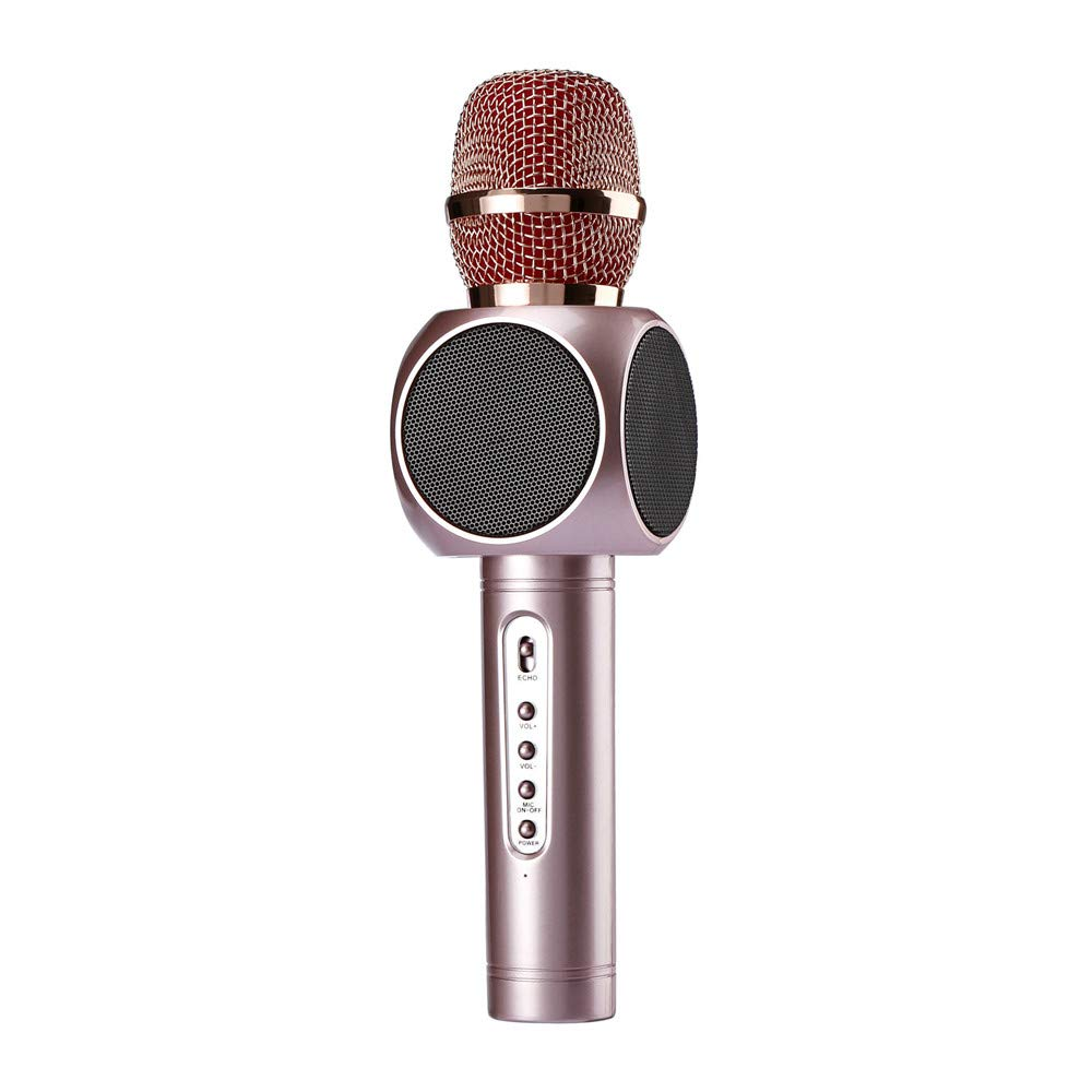 Wireless Karaoke Microphone 3 in 1 Portable Bluetooth Karaoke Player System with Two Built-in Speakers Compatible with Android & iOS for Home KTV Bar Party Muisc Playing Singing & Recording Wireless B by Xiuzhifuxie (Image #1)