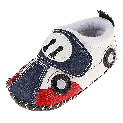 6abd46e3be4c4 Cloud Kids Chaussures Premiers Pas Bébé Garçon Chausson Bébé Chaussure Bébé  en Cuir PU Souple