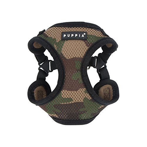 Puppia PARA-HC1533-CA-L Camo Soft Harness C Pet-Vest-Harnesses, LARGE