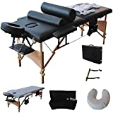 GHP 84''L Massage Fold Foam Padding Table Portable Facial SPA Bed