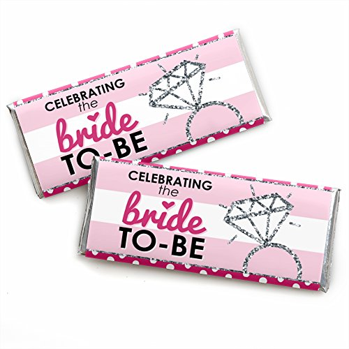 Bride-to-Be - Candy Bar Wrappers Bridal Shower & Classy Bachelorette Party Favors - Set of - Bridal Candy Wrapper Shower