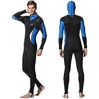 Full Body Scuba Rash Guard Lycra Dive Skin UV Swimwear Sport Skins for Men Women, Long Sleeve One Piece Front Zipper…