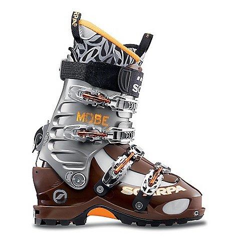 Freeride Ski Boots - Scarpa Mobe Freeride Alpine Touring Ski Boot, Mocha Shark, Size 27.5