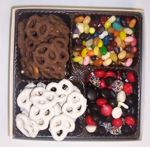 Scott's Cakes Large 4-Pack Licorice Mix, Assorted Jelly Beans, Chocolate Pretzels, & Yogurt Pretzels