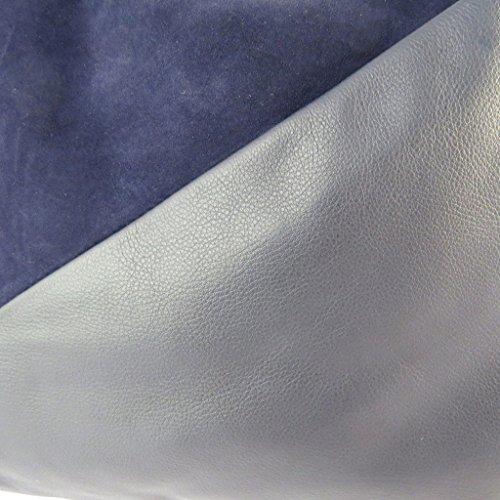 Bolsa de cuero 'Gianni Conti'azul marino - 38x35x11 cm.