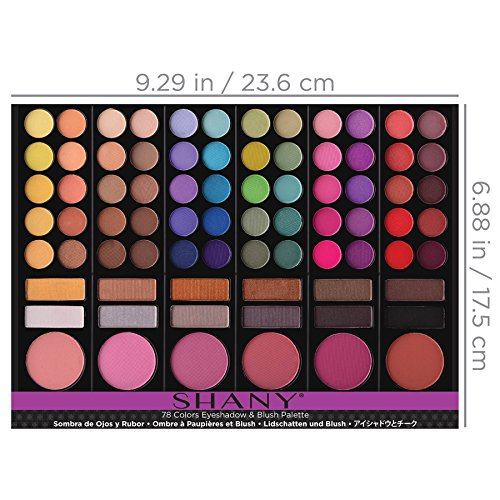 51nK061nGWL SHANY Cosmetics Natural Fusion Eyeshadow Palette (88 Color Eyeshadow Palette) - 2.15 Ounce - Nude