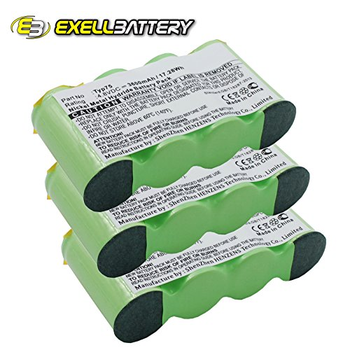 3x Ni-MH 4.8V Battery Replaces AEG