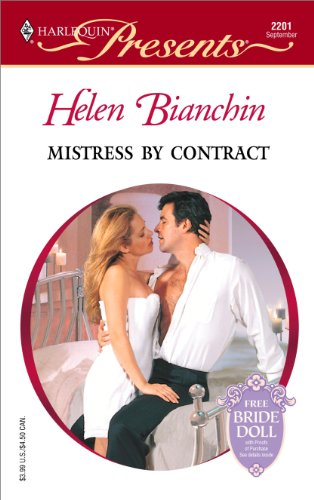 book cover of Mistress by Contract