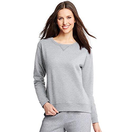 Steel Womens Sweatshirt - Hanes ComfortSoft EcoSmart Women's Crewneck Sweatshirt_Light Steel_M