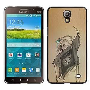// PHONE CASE GIFT // Duro Estuche protector PC Cáscara Plástico Carcasa Funda Hard Protective Case for Samsung Galaxy Mega 2 / Sexy Woman Fashion Art Design /