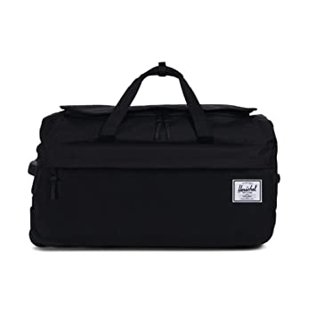 ffdb56f20 Amazon.com | Herschel Supply Co. Wheelie Outfitter Travel Duffle, Black,  One Size | Travel Totes