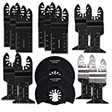 HIFROM Wood/Metal Oscillating Multitool Saw Blade Set Fits Fein Multimaster, Porter Rockwell Cable,Bosch Craftsman,Ridgid Ryobi,Black & Decker,Makita Milwaukee,Dewalt, Chicago 14 pcs