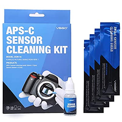 APS-C Frame (CCD/CMOS) Digital Camera Sensor Cleaning Swab Type 2 Cleaning Kit (Box of 12 X 16mm Swab + 15ml Sensor Cleaner) from UES