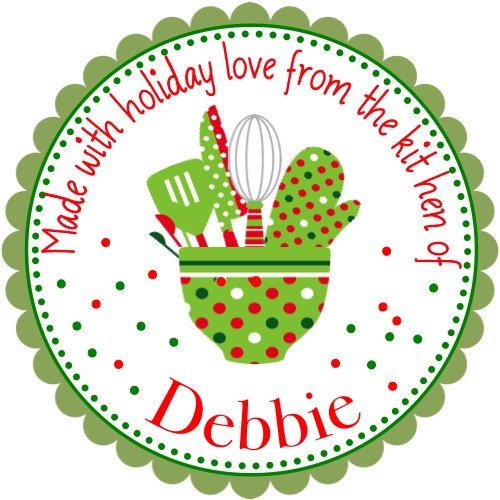 40 Personalized Christmas LABELS Party Favors Holiday