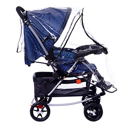 Universal Baby Stroller Raincover Buggy Pushchair Stroller Pram Transparent Rain Cover Waterproof Umbrella Stroller Wind Dust Shield Cover for Strollers by JINTN (Image #2)