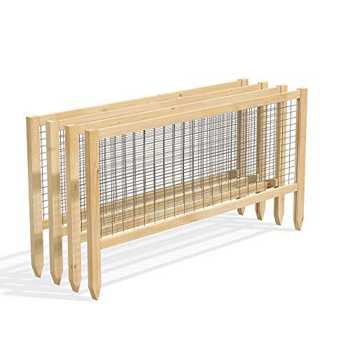 "Greenes Fence RCCG4PK CritterGuard Cedar Garden Fence, Pack of 4, 23.5"""