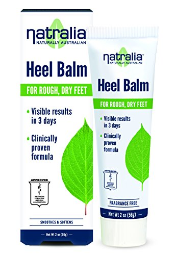 Natralia Heel Balm, 2 Ounce Tube - Smoothes & Softens Dry, Cracked Heels & Feet with Shea Butter, Rosemary Oil, Safflower Oil, Aloe Vera, Vitamin E & -