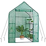 Mini Walk-in Greenhouse 3 Tier 6 Shelves with PE