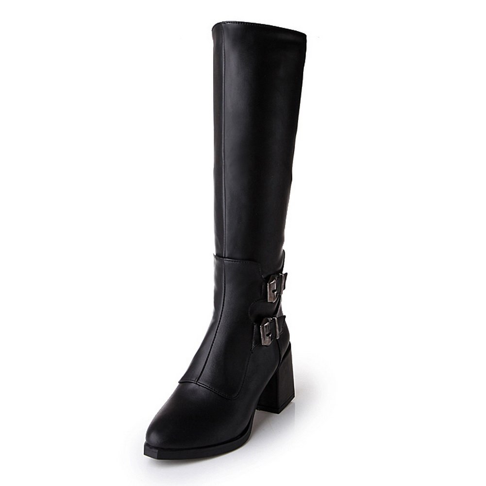 AdeeSu Womens Casual Pointed-Toe Slip-Resistant Slip-Resistant Slip-Resistant Buckle Urethane Boots SXC01971 B077X4GKLN Boots cc8010