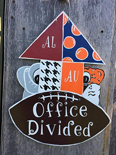 WoodenSign 30x45cm House Divided Door Hanger Alabama Auburn Office Divided Couples Divided Gift s for House Divided Friends Gift s bh 660680