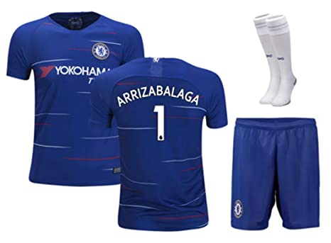 best service df96a e9ba6 Amazon.com : ZZXYSY Kepa Arrizabalaga #1 Chelsea Kids/Youths ...