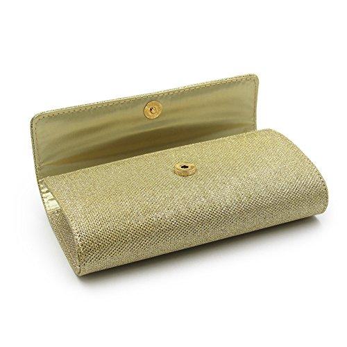 Rhinestone Clutch Bag Girl Wedding Women Handbag Gaeruite Sequin Envelope Frosted Tote Shiny Clutch for Gold Bag Bag Evening ZnwHzqH1