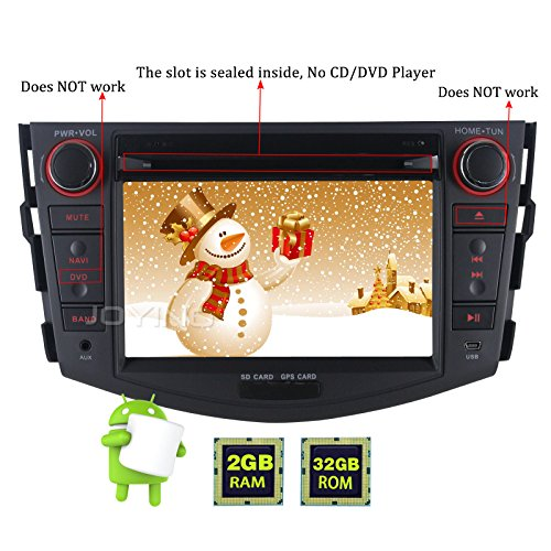 JOYING for Toyota RAV4 2006-2011 Double Din 7 inch 2GB Intel Quad Core Android 6.0 Car Stereo Radio Support Bluetooth WiFi GPS Touch Screen Head Unit Indash Auto Audio Receiver by JOYING