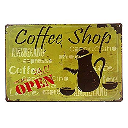 """TIN SIGN 12/"""" x 18/"""" Red Rose Coffee Metal Store Farm Shop Cottage Store A808"""