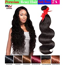 eCowboy 6A Peruvian Human Hair Body Wave Hair Bundle On Sale Best Quality Hair Extensions Weft 100 Human Hair Weave GUARANTEED Medium Brown #4 color - 22 Inch