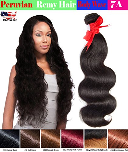 eCowboy 6A Peruvian Human Hair Body Wave Hair Bundle On Sale Best Quality Hair Extensions Weft 100 Human Hair Weave GUARANTEED Dip Dyed Ombre Three-Tone Color #1B/#4/#30 - 24 Inch