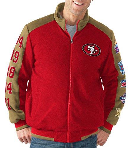 G-III Sports San Francisco 49ers NFL Classic Men's Super Bowl Commemorative Varsity ()