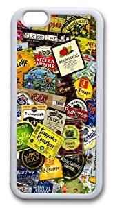 Beer Labels Custom iphone 6 plus Case Cover TPU White