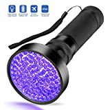 Escolite UV Flashlight Black Light, Ultraviolet Blacklight Detector for Dog Urine, Pet Stains and Bed Bug (100 LED UV Flashlight)