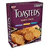 Keebler, Toasteds, Crackers, Toasted Sesame, Harvest Wheat and Buttercrisp, Party Pack, 12 oz