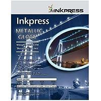Inkpress Metallic Paper Gloss - 255 gsm, 10 mil, Metallic Glossy surface,4X6 - 50