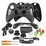 xbox 360 replacement parts - YTTL® Hydro Dipped Black Gold Carbon Fiber Wireless Controller Replacement Shell/Buttons for XBOX 360 Wireless Controller
