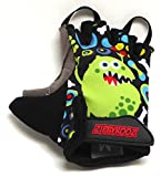 kids bike gloves - WeeRiderz ZippyRooz Toddler & Little Kids Bike Gloves for Balance and Pedal Bicycles (Formerly For Ages 1-8 Years Old. 6 Designs for Boys & Girls (ZR Monsters, Little Kids Medium (3-4))