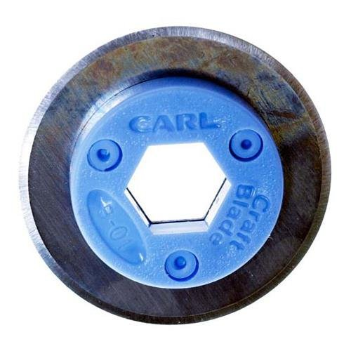 Carl G-01 Replacement Straight Cut Rotary Blade 2-Pack, for RT-200N / RT-215N, DC210, 220, and 238 ()