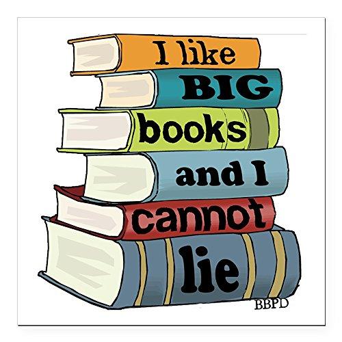 (CafePress - I Like Big Books Square Car Magnet 3