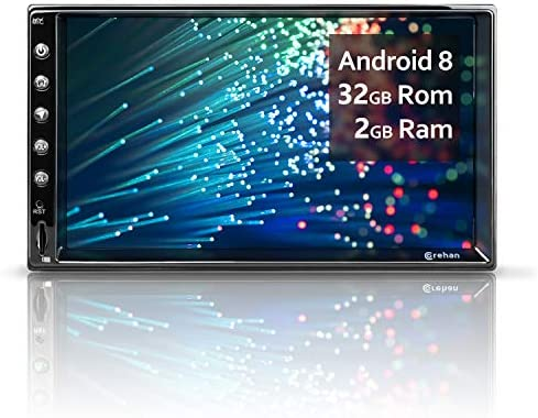 Double Din Android Car Stereo – Corehan 7 inch 2GB Ram 32GB ROM Touch Screen in Dash Car Radio Video Multimedia Player with Bluetooth WiFi GPS Navigation System Android 8 with 7 inch Screen