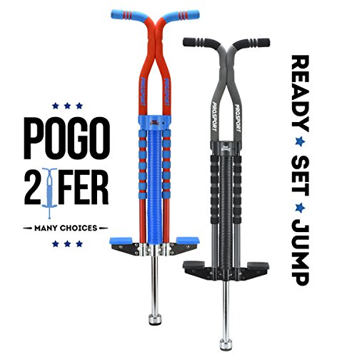 New Bounce Soft, Easy Grip Pro Sport Pogo Stick- 2 Pack Combo set by New Bounce