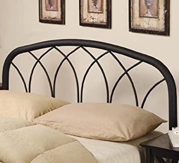 Coaster Home Furnishings Furniture 300184QF Modern Metal Headboard - Full-Queen - Black